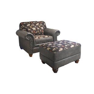 Pelley Club Chair and Ottoman by Loon Peak