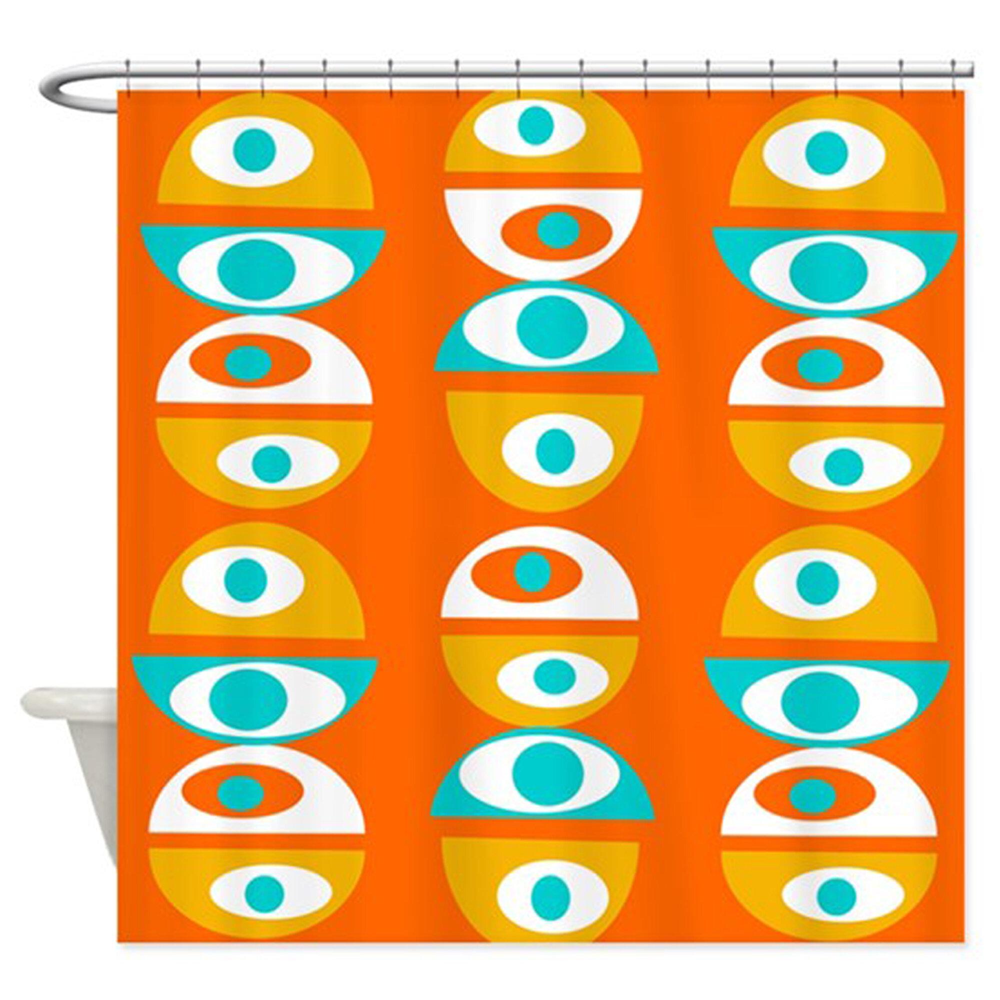 Corrigan Studio Montcalm Geometric Single Shower Curtain Wayfair