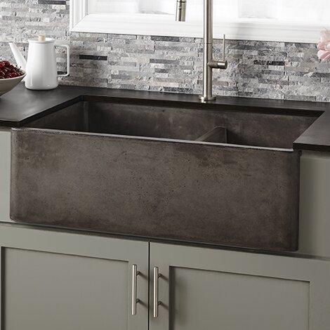 33 l x 21 w double basin farmhouse kitchen sink - Farmhouse Kitchen Sink