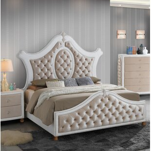 Everly Quinn Lees Upholstered Panel Bed