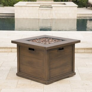 Loon Peak Sherry Polyresin Propane Gas Fire Pit Table