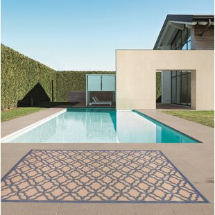 Kevan Blue/Beige Indoor/Outdoor Area Rug