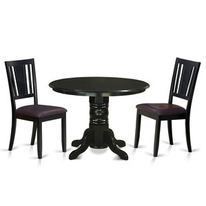 Langwater 3 Piece Solid Wood Dining Set by Beachcrest Home
