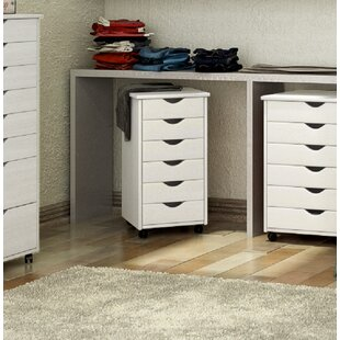 Casey 6 Drawer Rolling Storage Chest by Rebrilliant