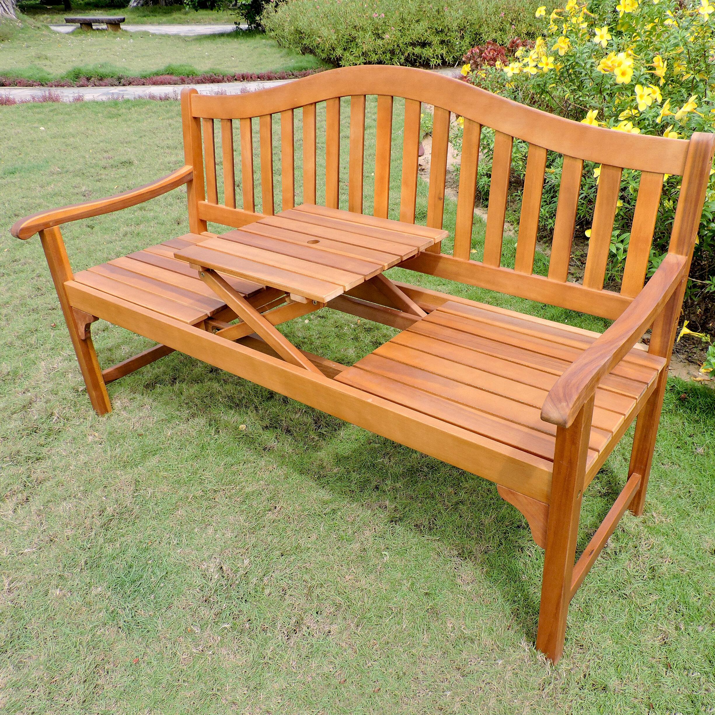 Leone Wooden Garden Bench