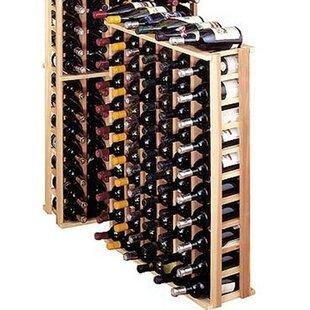 Premium Redwood 66 Bottle Floor Wine Rack..
