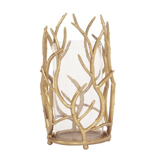 Gold Branches Metal Hurricane