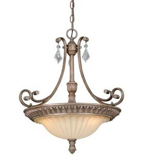 Fleur De Lis Living Aahil 3-Light Bowl Pendant