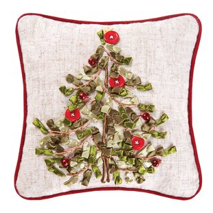 Haynes Tree Ribbon Art Throw Pillow (Set Of 2) by August Grove Best Design