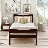 Bonnefoy Twin Solid Wood Platform Bed by Red Barrel Studio®