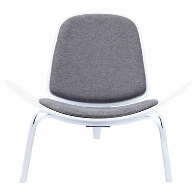Trule Teen Berger Lounge Chair Finish White Upholstery Steel ...