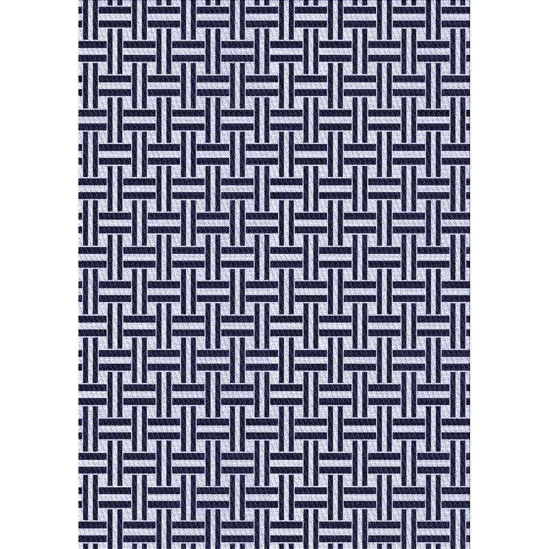 East Urban Home Geometric Wool Blue Area Rug Wayfair