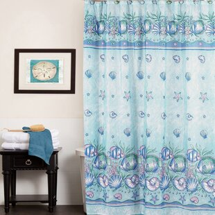 Oceanic Water Resistant Single Shower Curtain
