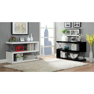 Puckett S-Shaped Standard Bookcase by Latitude Run