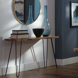 Tindle Live Edge Hairpin Console Table