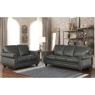 Fairdale 2 Piece Leather Living Room Set ByDarby Home Co