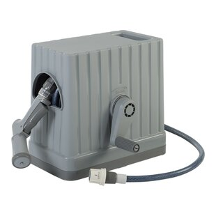 Plastic Retractable Hose Reel Box With Hose And Nozzle By IRIS