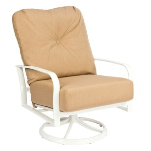 Fremont Big Man's Swivel Rocking Lounge Chair with Cushions by Woodard
