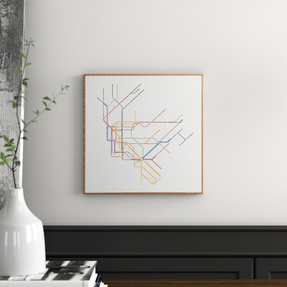 Nyc Subway Map Canvas Wall Art.Nyc Subway Map Framed Graphic Art Print