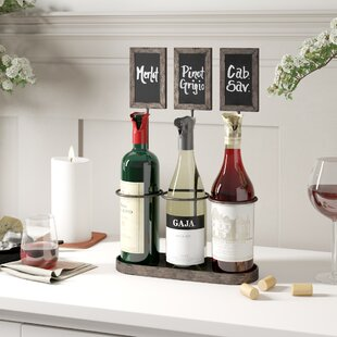 Delong Chalkboard 3 Bottle Tabletop Wine ..