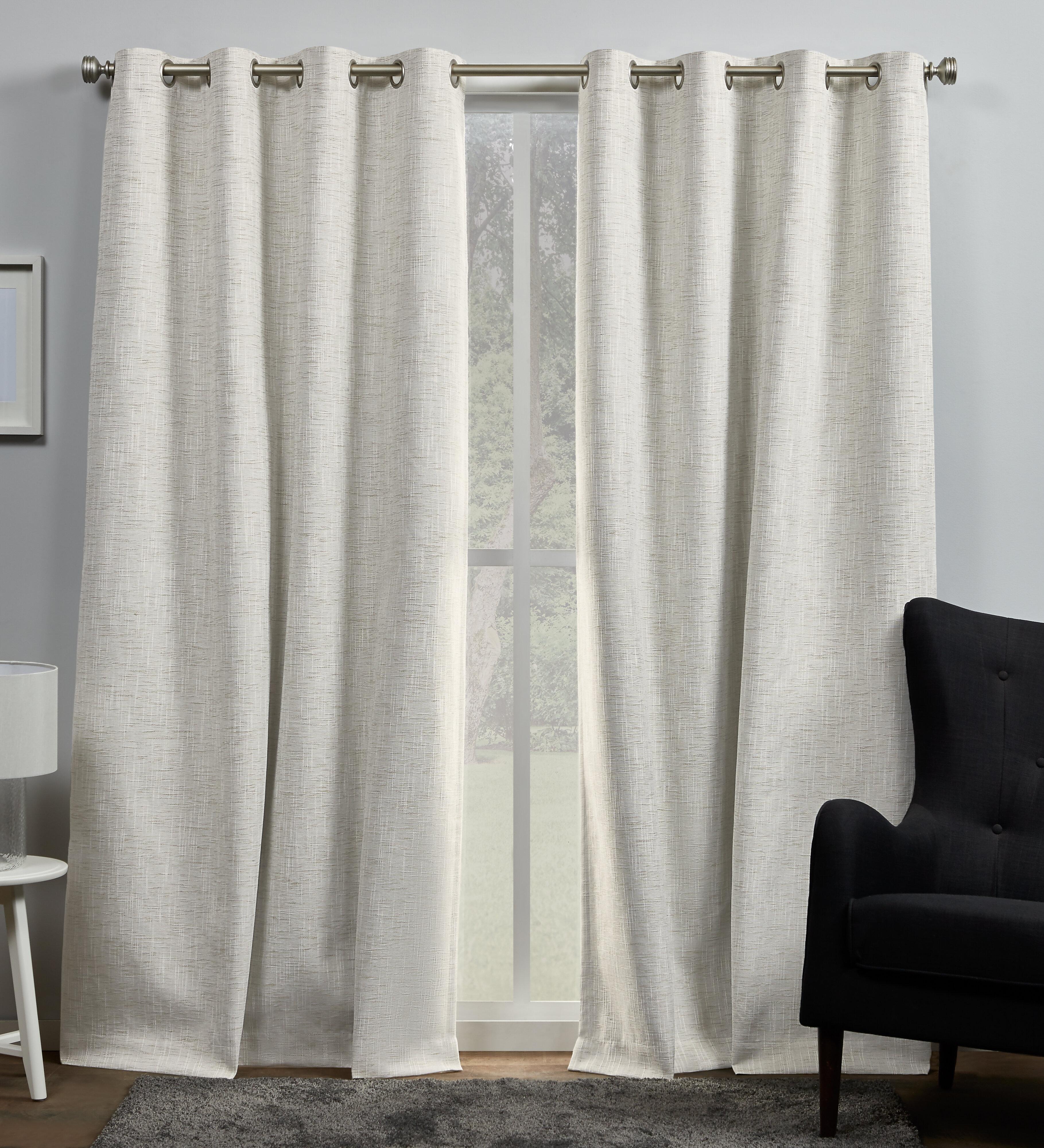 Gracie Oaks Palni Burke Solid Max Blackout Thermal Grommet Curtain Panels Reviews Wayfair