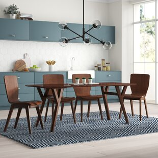 Slye Dark Walnut Bent Wood 5-Piece Dining Set