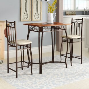 Alysa 3 Piece Counter Height Pub Table Set by August Grove