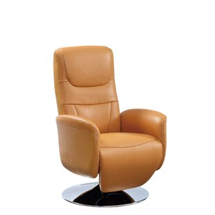 Savings Macon Leather Power Recliner Latitude Run