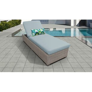 Meeks Outdoor Chaise Lounge with Cushion