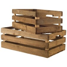 Wood Crate Set