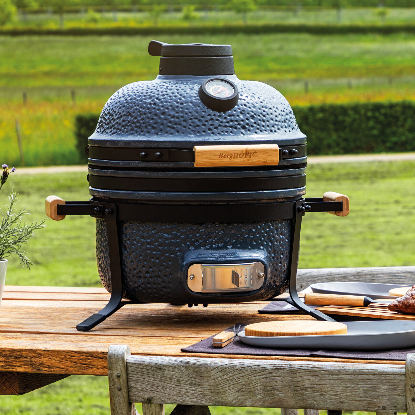 Berghoff International 16 Kamado Charcoal Grill Wayfair