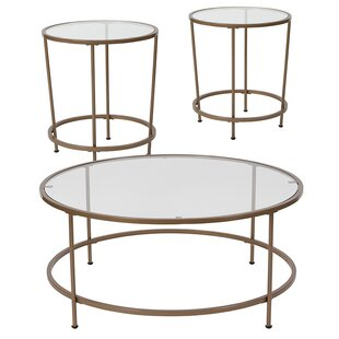 House of Hampton Lepanto 3 Piece Coffee Table Set