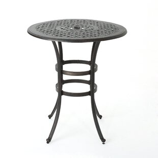 Corle Outdoor Cast Aluminum Bar Table