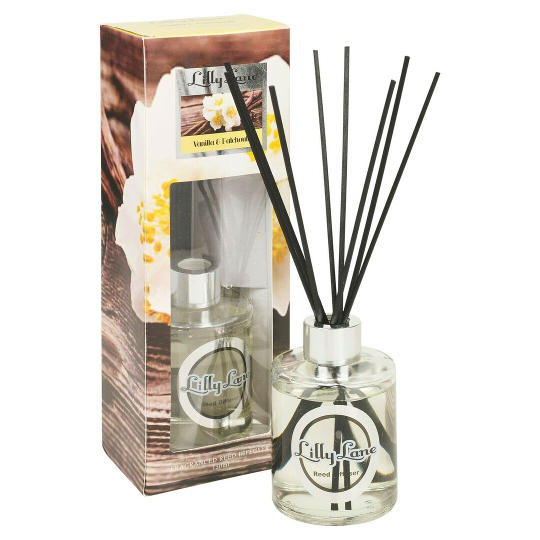 Lilly Lane 150ml Room Diffuser Vanilla and Patchouli