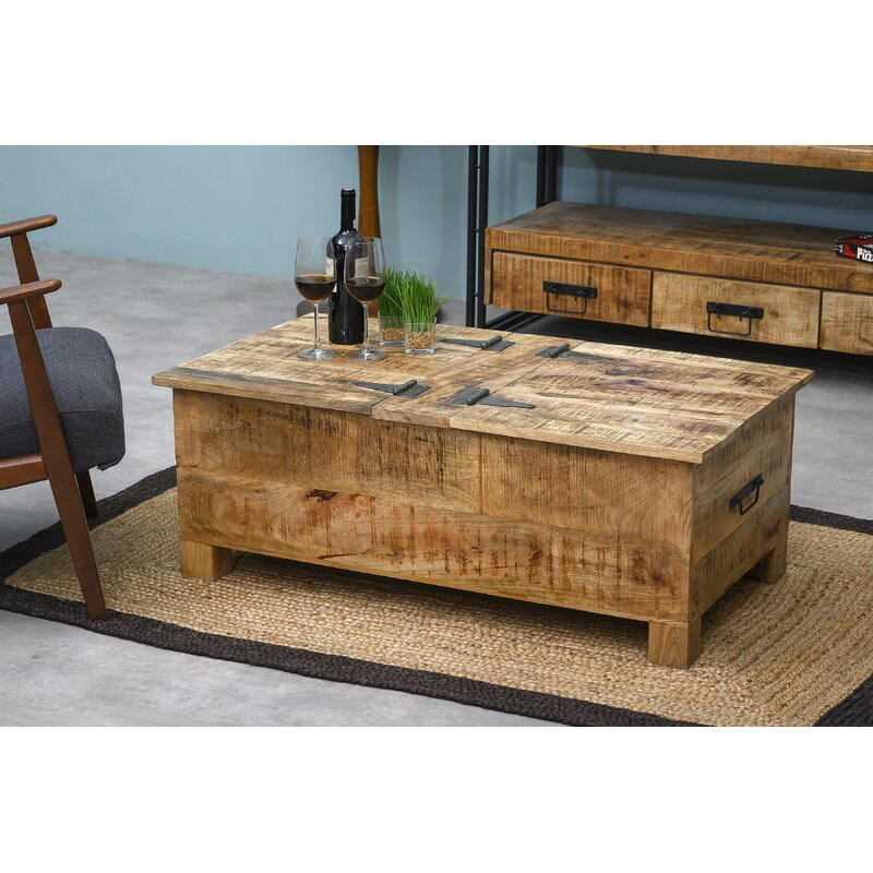 Foundry Select Stephania Wood Flip Top Storage Bench Reviews Wayfair