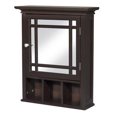 Andover Mills Taryn 20 x 24 Surface Mount Framed Medicine Cabinet with 1 Adjustable Shelf Finish: Espresso