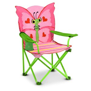 Bella Butterfly Kids Directors Chair With Cup Holder