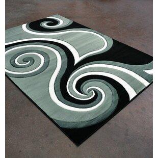 Inexpensive Light Green/Black Area Rug ByRug Tycoon