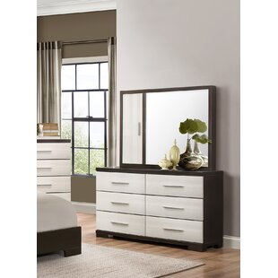 Hastings 6 Drawer Double Dresser with Mirror