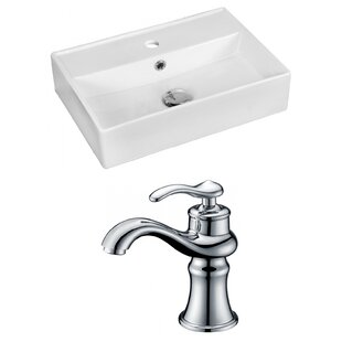 Look for Ceramic 20 Bathroom Sink with Faucet and Overflow By Royal Purple Bath Kitchen