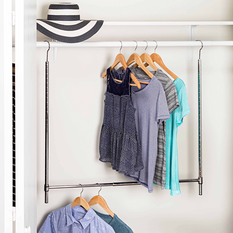 Erwin Adjustable Hanging Closet Rod