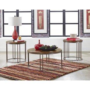 Gracie Oaks Ma?ca 3 Piece Coffee Table Set