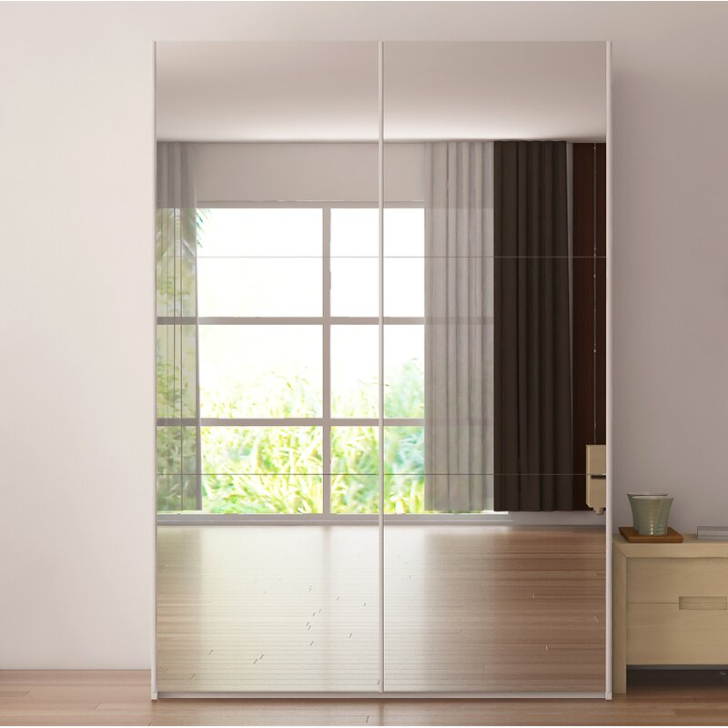 zastrow modern 3 drawers armoire with sliding doors