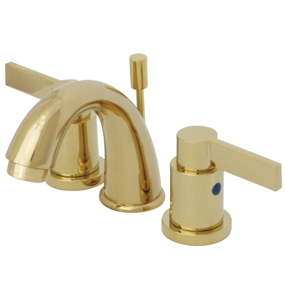 Kingston Brass NuvoFusion Widespread faucet Bathroom Faucet with ...