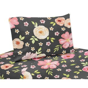 Sweet Jojo Designs Watercolor Floral Sheet Set