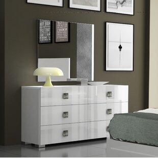 Dorland 6 Drawer Double Dresser with Mirror by Orren Ellis