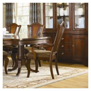 Fitzpatrick Splat Back Arm Chair in Distressed Rich Cordovan Mahogany (Set of 2) by Darby Home Co