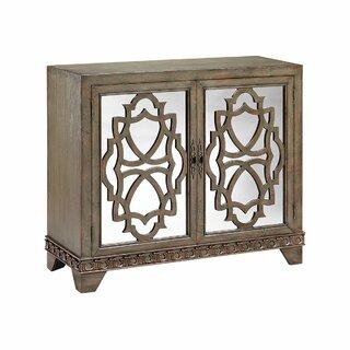 Allena 2 Door Mirrored Accent Cabinet by Bloomsbury Market SKU:CD608195 Check Price