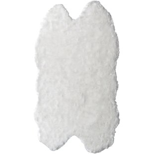 Online Reviews Shag and flokati Faux Sheepskin White Area Rug By Glamour Home Decor
