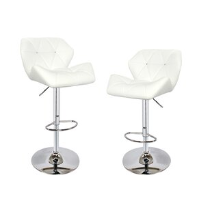 Adjustable Height Swivel Bar Stool (Set of 2) BestMasterFurniture